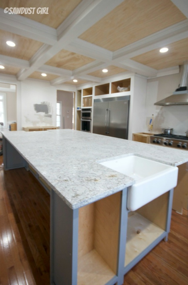 White Granite Countertops And Cabinet Color Revealed