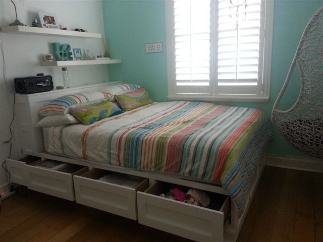 Built In Storage Bed