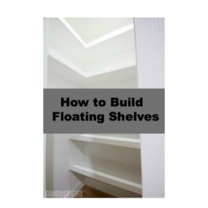 How to build u shaped floating shelves