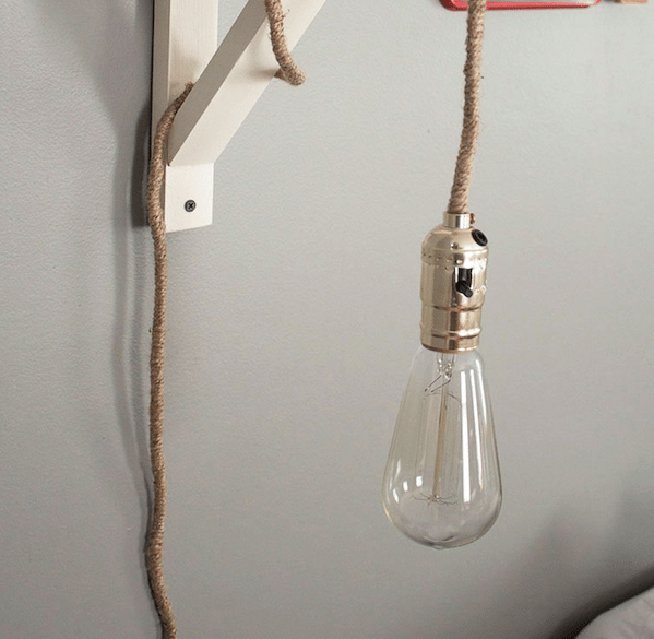 Wall Lamps Diy : DIY Wall Lamp - Sawdust Girl