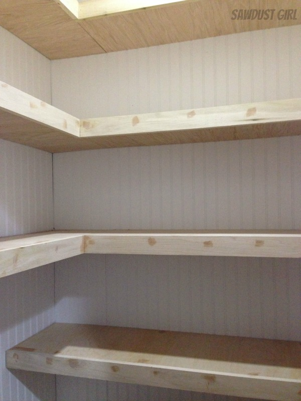 How to build corner floating shelves sawdust girl for How to make wall shelves easy