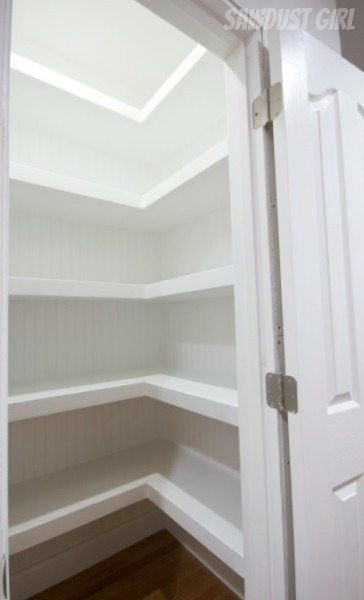 Hall Closet With Floating Shelves Sawdust Girl