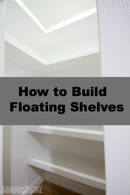 U-Shaped Floating Shelves
