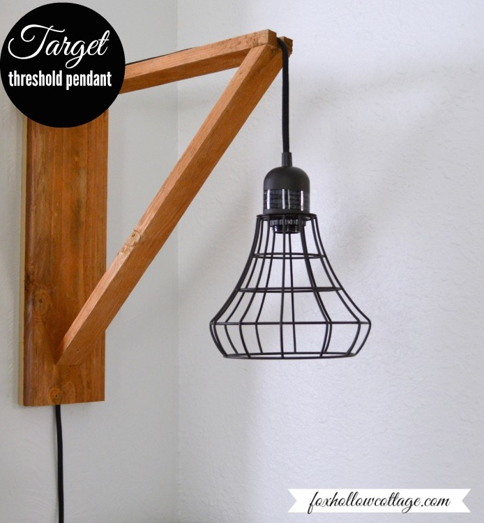 Wall Brackets For Hanging Lamps : Wood Pendant Light - Sawdust Girl