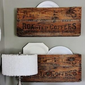 Coffee Crate DIY Wall Organizers