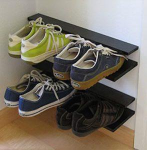 Creative shoe storage solution