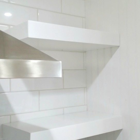How to istall floating shelves