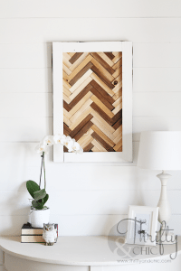 Cool DIY Herringbone Wall Art