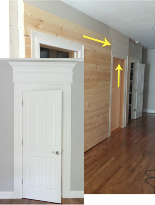 Sometimes you can fake it -- sometimes you have to actually make the doorway taller.