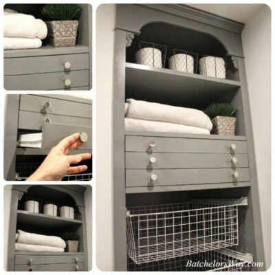 Pull-out sweater drying racks