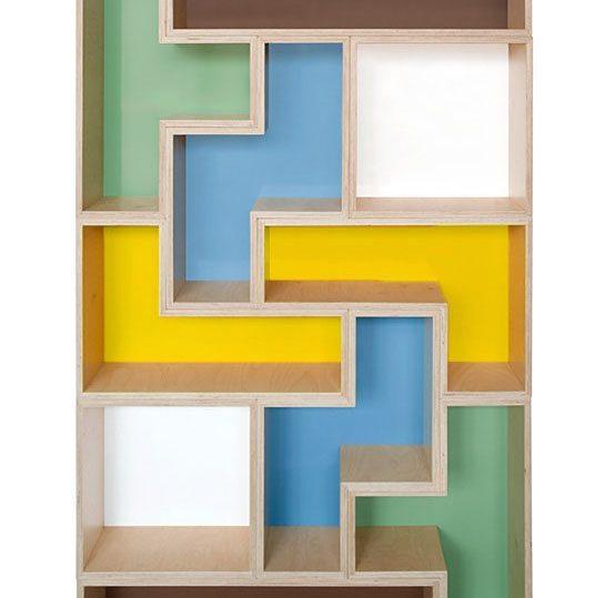 Tetris Inspired Bookshelf Sawdust Girl 174