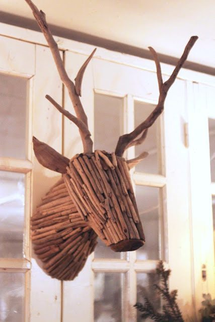 Twig Decor unique wall decor - twig deer - sawdust girl®