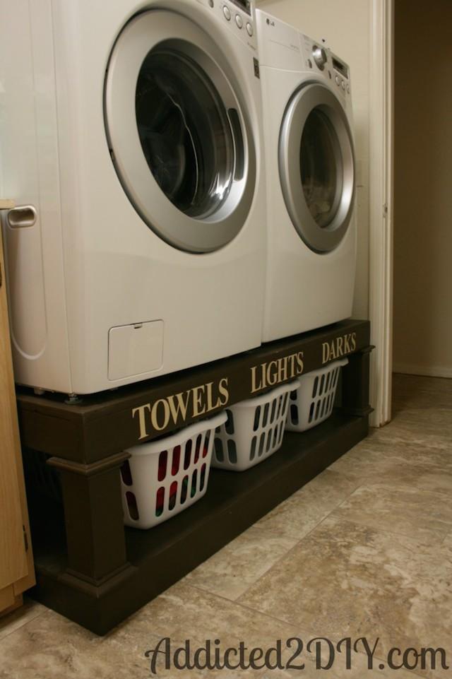 Washer Dryer Pedestal Laundry Organizer Sawdust Girl