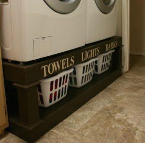 Washer-Dryer Pedestal Laundry Organizer