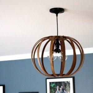 DIY Wood Sphere Light