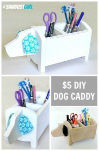 DIY Gift Idea: $5 Dog Shaped Storage Caddy
