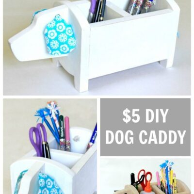Dog Shaped Storage Caddy – $5 Gifts