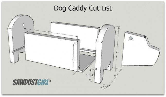 Dog Caddy Cut List