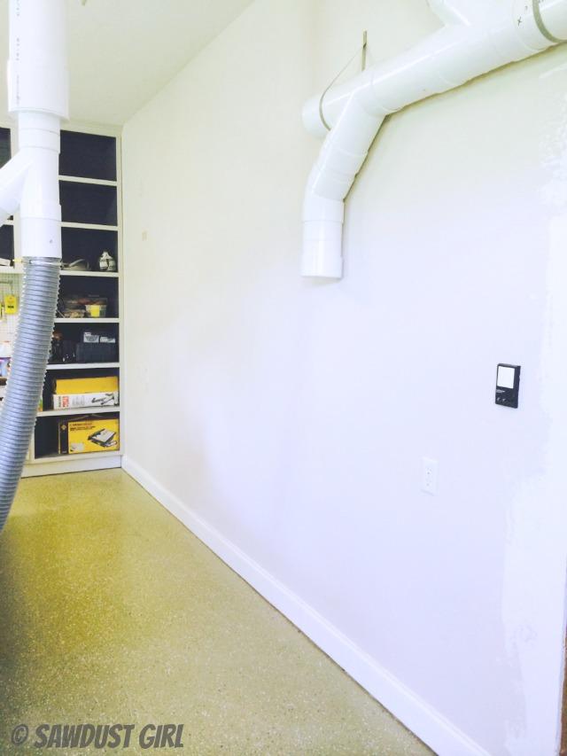 Before - workshop wall before