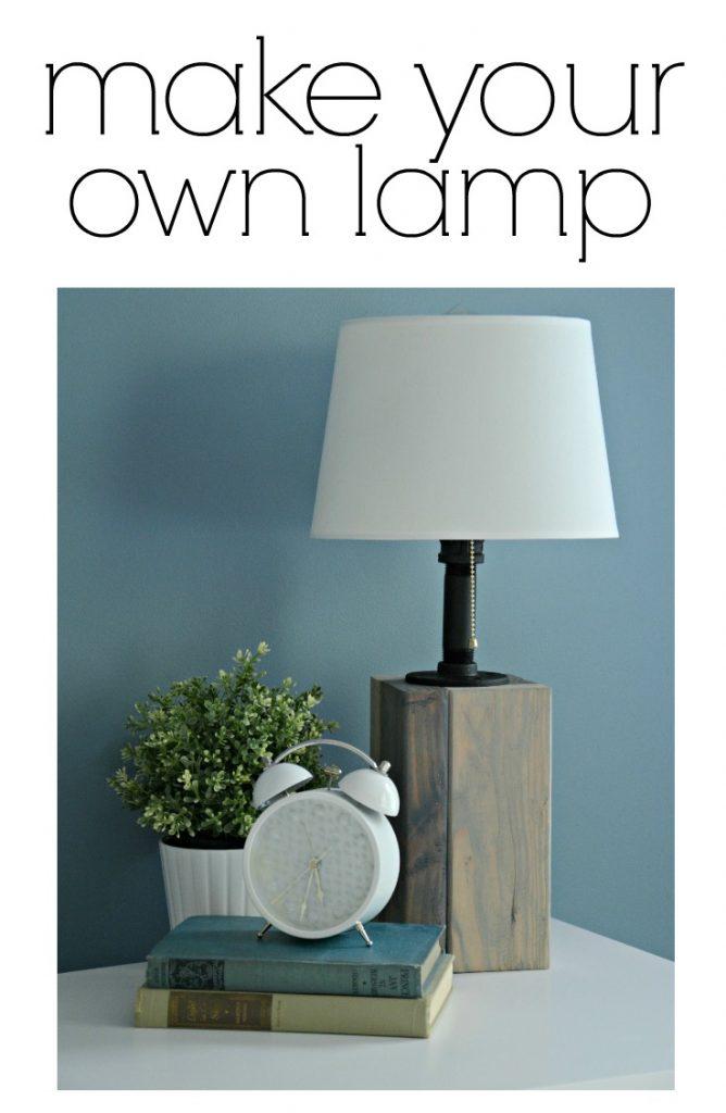 diy lamp make your own sawdust girl. Black Bedroom Furniture Sets. Home Design Ideas