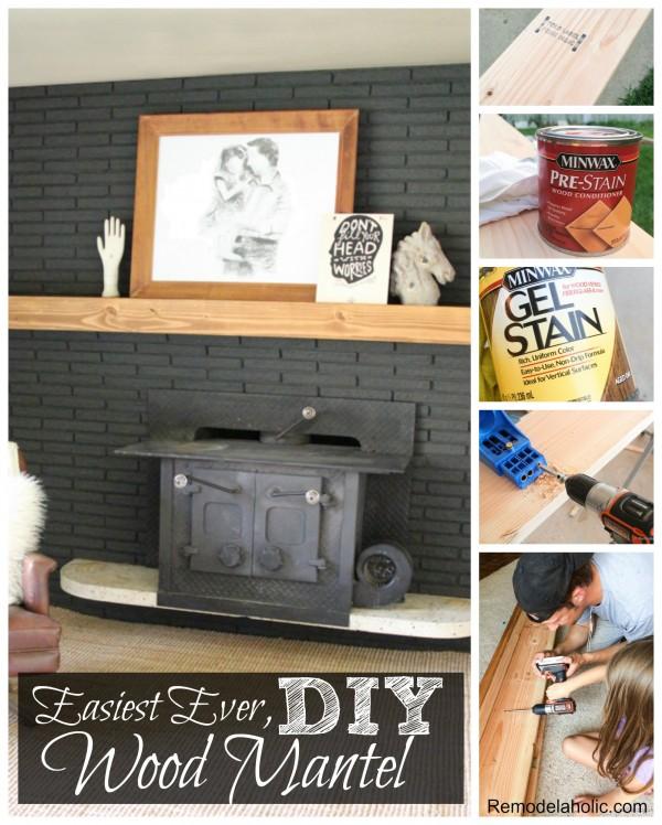DIY Wood Mantel