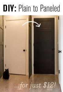 DIY Plain to Paneled Door Makeover