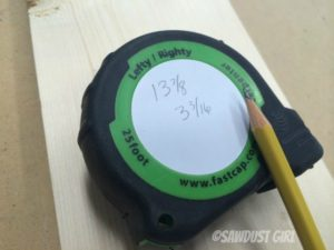 Tape measure for woodworking and remodeling