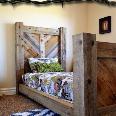 Barnwood Twin Bed Plans
