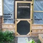 DIY Garden Screen Door