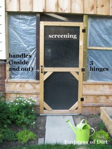 DIY Garden Screen Door