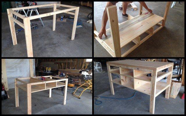 Diy Kitchen Island Cart diy kitchen island and storage cart - sawdust girl®