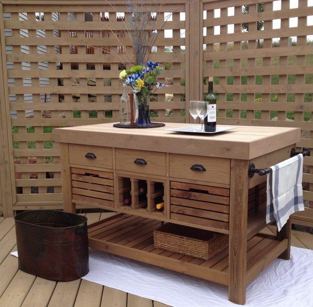 Diy Bookcase Kitchen Island: DIY Kitchen Island And Storage Cart