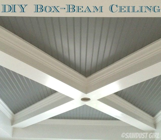 how to build a box beam ceiling sawdust girl