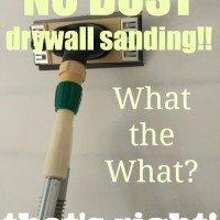 dust-free drywall sanding