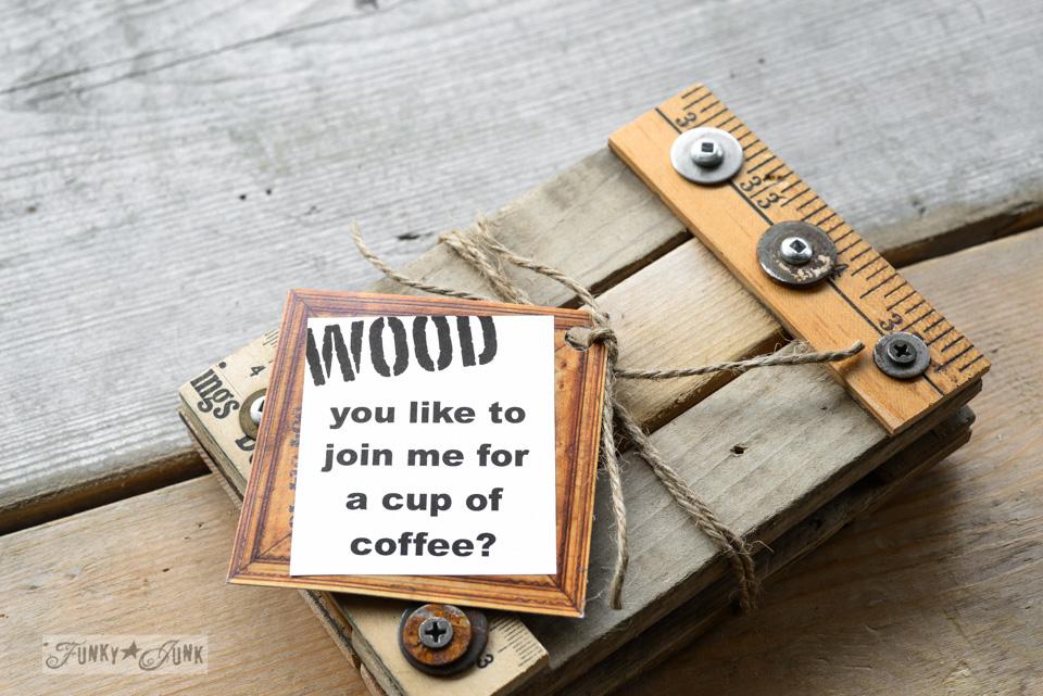 Funky Junk Reclaimed Wood Coasters