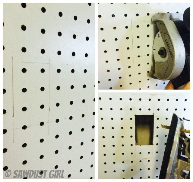 How to install a pegboard wall.