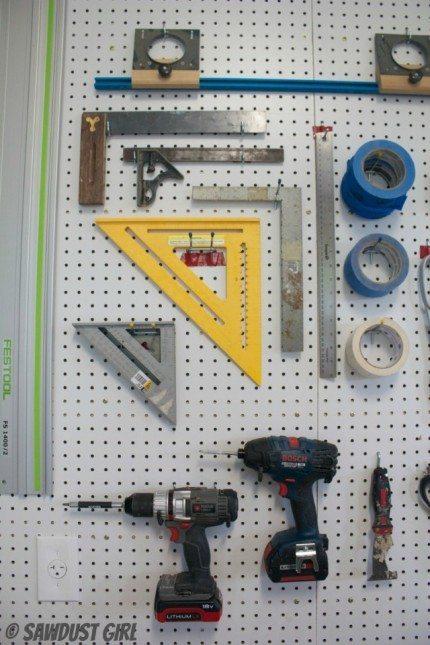 Pegboard Wall   Workshop Tool Storage
