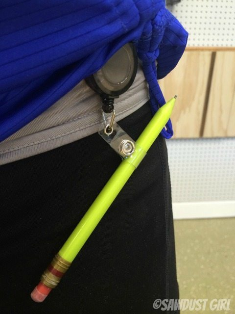 "Never lose track of your pencil again with -- ""The Pencil Keeper""!"