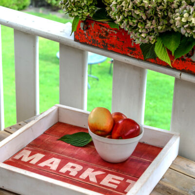 Painted Pallet Wood Tray