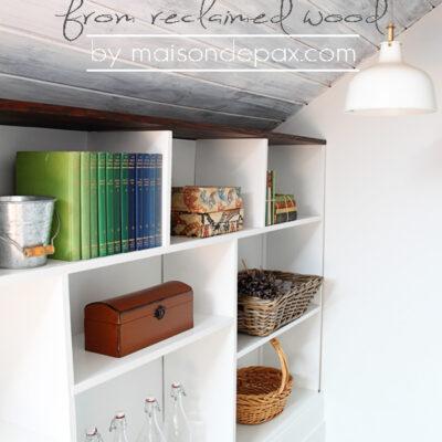 DIY Stairwell Bookcase