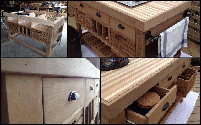 Kitchen Island Cart Diy diy kitchen island and storage cart - sawdust girl®