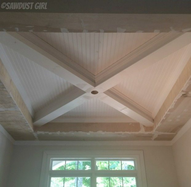 How to build a box beam ceiling sawdust girl for Box beam ceiling