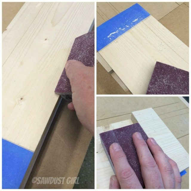 sand wood to prepare for stain