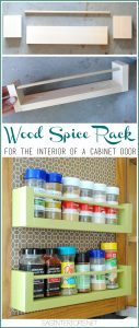 Spice Organizer – Easy DIY Wood Spice Rack