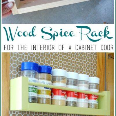 Spice Organizer – Easy DIY Wood Spice Rack