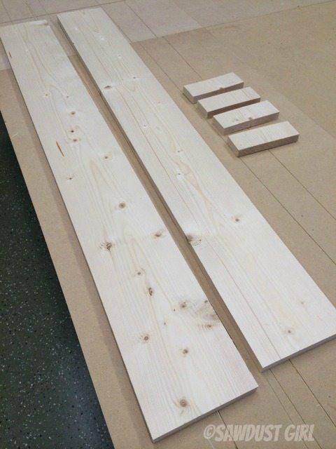 Simple pine magazine holder project