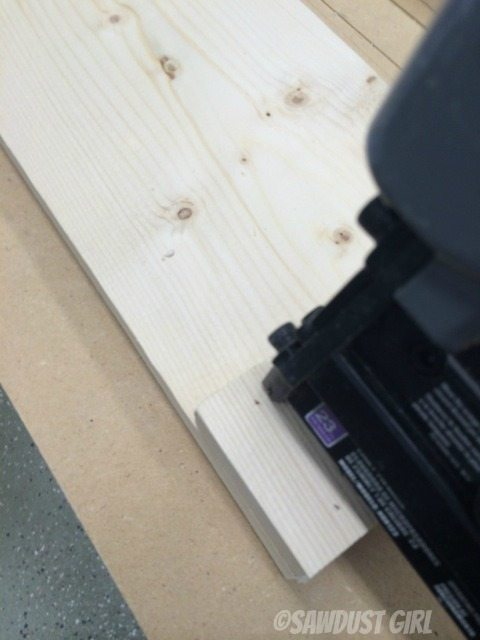 use wood glue and brad nails