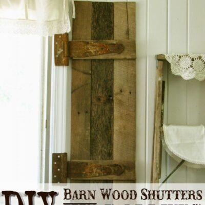 DIY Pallet Wood Shutters