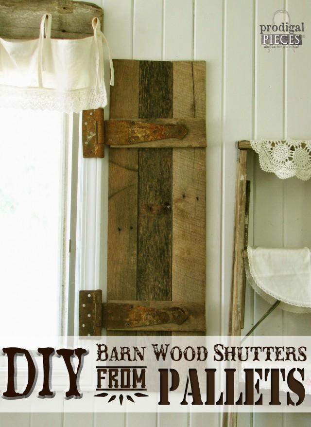 Diy Pallet Wood Shutters Sawdust Girl