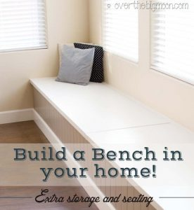 DIY Seating Bench With Storage